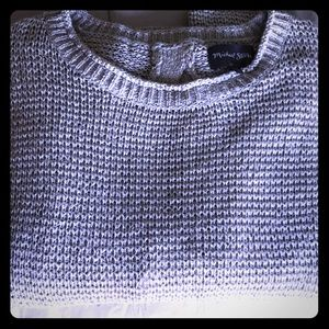 Silver Michael Stars braided back sweater